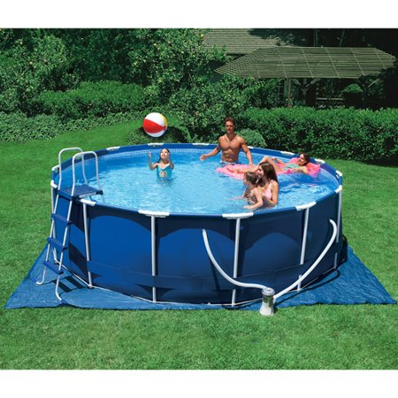 intex 15 39 x 48 metal frame swimming pool. Black Bedroom Furniture Sets. Home Design Ideas