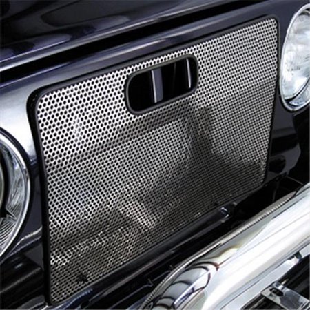 Rugged Ridge 11106.03 Radiator Bug Shield, Stainless Steel, 97-06 Jeep Wrangler - image 1 of 1