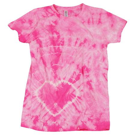 150HT Dyenomite Junior Heart Tiedye Tee Girls T Shirt