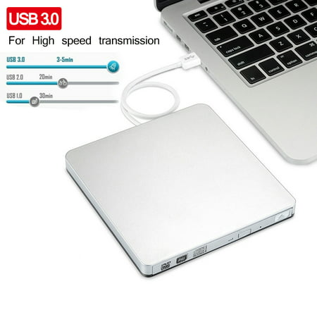 USB 3.0 External CD/DVD RW Drive Burner Writer Reader for Win 10 7 PC Laptop M a c - image 10 of 10