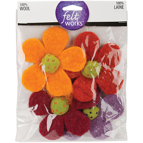 Dimensions Feltworks Shapes, Crazy Daisies, 4-Pack