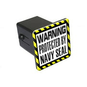 "Protected By Navy Seal 2"" Tow Trailer Hitch Cover Plug Insert"