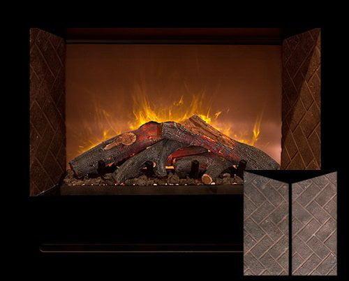 "Modern Flames Home Fire 42"" Custom Built-In Firebox W/ Black Glass Front"