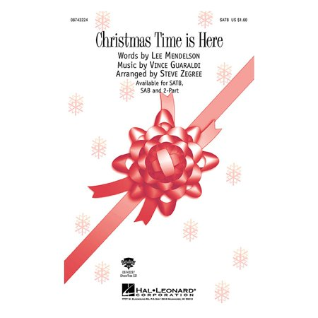 Hal Leonard Christmas Time Is Here (from A Charlie Brown Christmas) (2-Part and Piano) 2-Part by Steve Zegree