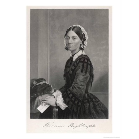 Florence Nightingale Nurse Hospital Reformer Philanthropist Print Wall Art By Alonzo Chappel