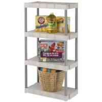 Plano Shelving,Open,Freestanding,Poly,56-1/4""