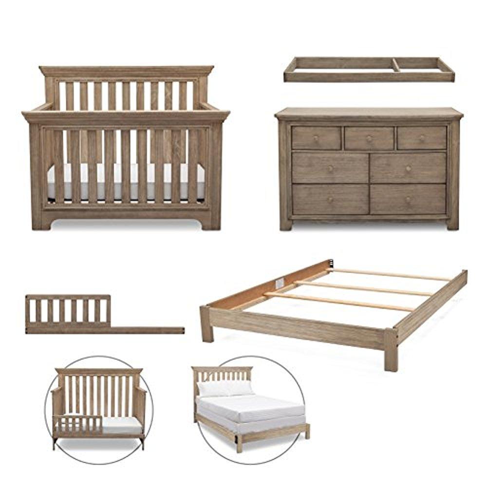 Simmons Kids Langley 5-Piece Nursery Furniture Set (Conve...