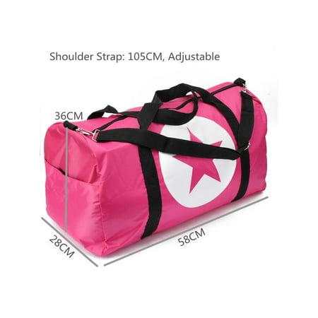 b76ff77ae0 Men Women Large Travel Star Bag Sports Gym Duffle Waterproof Nylon Tote  Handbag - Walmart.com