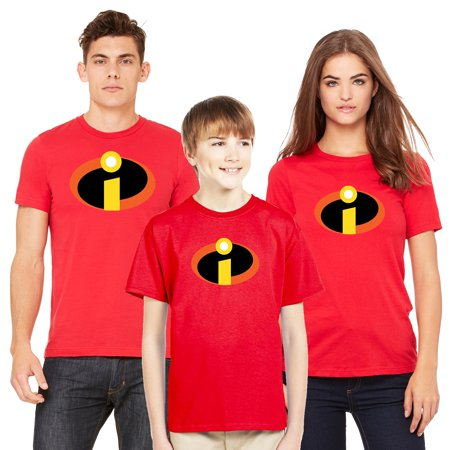 The Incredibles T-shirt Men Women Youth Family Disney Matching (Sold