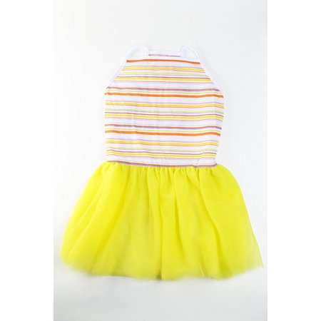 Colorful Stripe Tutu Large Dog Dress by - Dresses For Large Dogs