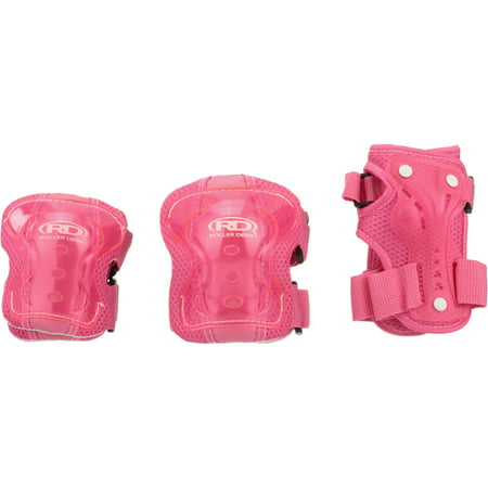 Roller Derby® Girls Youth Protective Wrist, Elbow, & Knee Pad Set 6 pc (Best Roller Derby Knee Pads)