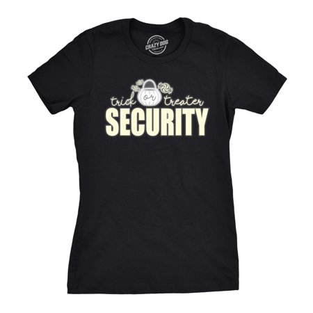 Womens Trick Or Treater Security Halloween T Shirt Funny Costume