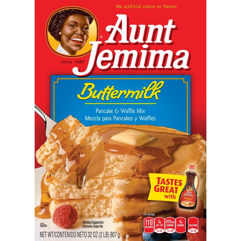 Aunt Jemima Buttermilk Pancake & Waffle Mix 32 oz. Box by Quaker Oats