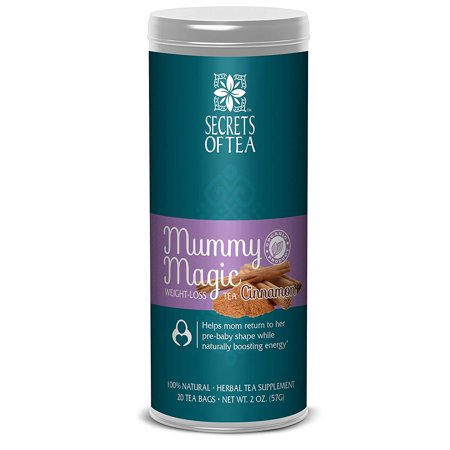 Mummy Magic Weight Loss Organic Cinnamon Tea, Postpartum Energy Tea, 20 unbleached tea bags, Up to 40 servings, Naturally Increase Metabolism & Maintain Healthy Energy Levels, Improve Digestion
