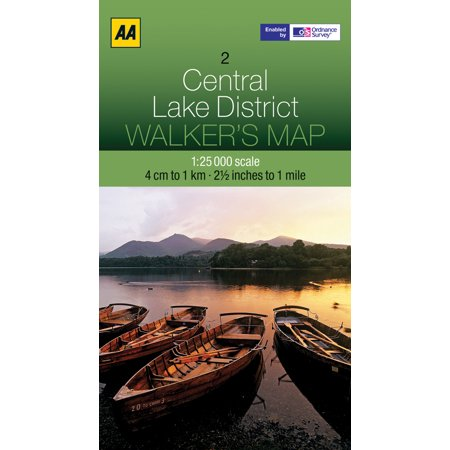 Walker's map central lake district - folded map: 9780749573133 - Lake District Halloween