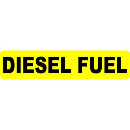 9inx2in diesel fuel sticker vinyl stickers signs decal sign safety decals