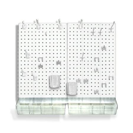Azar 900945-WHT 70-Piece Pegboard Organizer Kit (2- 13.5