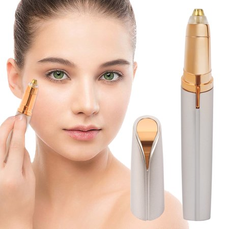 Electric Eyebrow Hair Remover Mini Eyebrow Trimmer Painless Safe Facial Hair Removal for Women (Battery Not (Best Home Electrolysis Hair Removal Reviews)