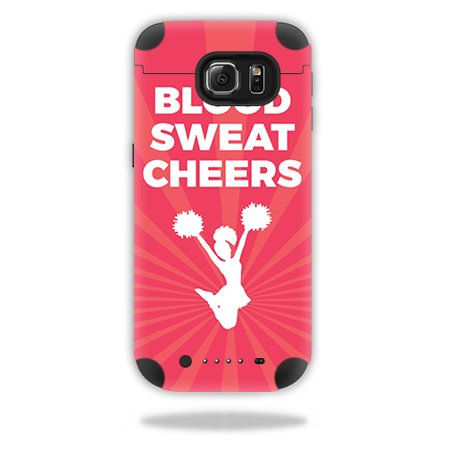 - Skin For Mophie Juice Pack Samsung Galaxy S6 Edge – Blood Sweat Cheers | MightySkins Protective, Durable, and Unique Vinyl Decal wrap cover | Easy To Apply, Remove, and Change Styles | Made in the USA