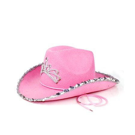 Fun Central (AT843) 1 pc Rhinestone Cowgirl Hat, Rhinestone Cowgirl Hat for Kids, Cowgirl Costume Party Hats for $<!---->