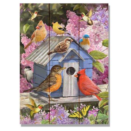 Daydream Giordanos Spring Birdhouse Indoor/Outdoor Cedar Wall Art