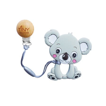 Bpa Free Teethers (Tiny Teethers Baby Pacifier Clip and BPA Free Silicone Teether in One (Koala))