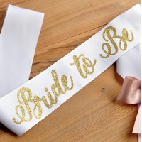 Gold Bride to Be Sash. Bachelorette Party Sash. Bridal Shower Sash.
