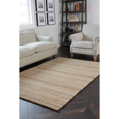 Kosas Home Handcrafted Cali Natural and Grey Rug (2' x 3')