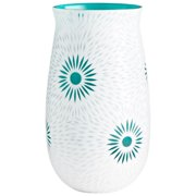 """Cyan Design Large Cameo Vase White Cameo 13.5"""" Tall Glass Vase"""