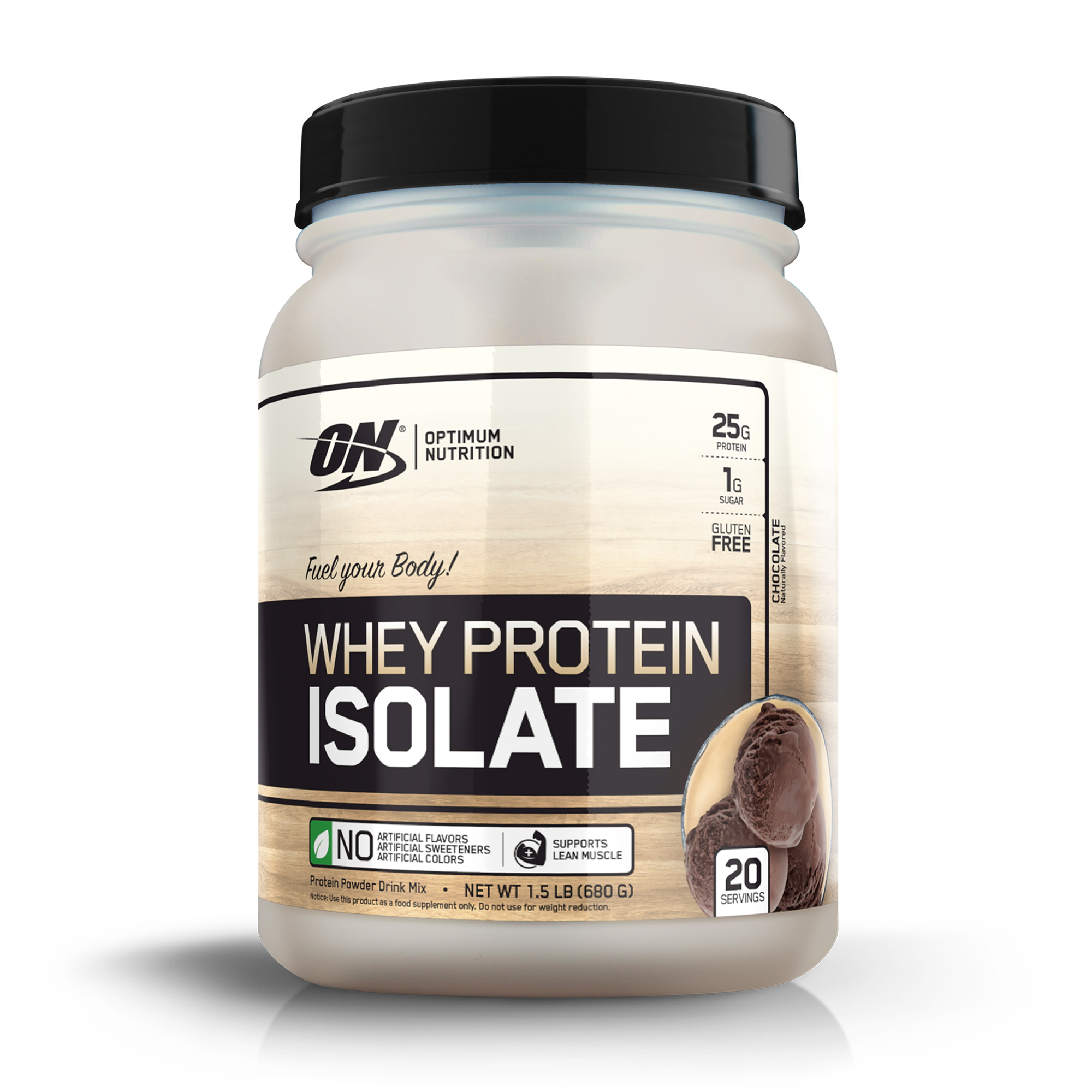 Optimum Nutrition Whey Protein Isolate, Chocolate, 25g Protein, 1.5 Lb