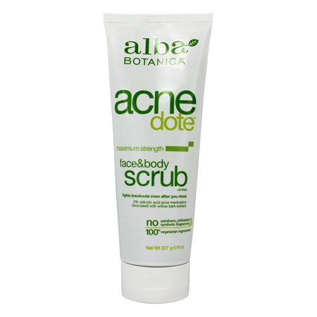 Alba Botanica - Natural Acnedote Face & Body Scrub - 8 oz. (pack of