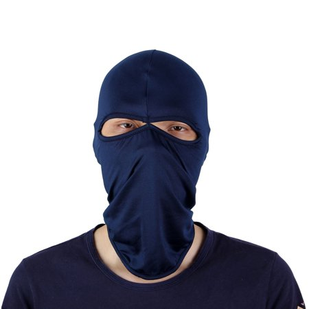 Cycling Motorcycle Two Hole Full Face Mask Cover Neck Hood Balaclava Hat Dark Blue