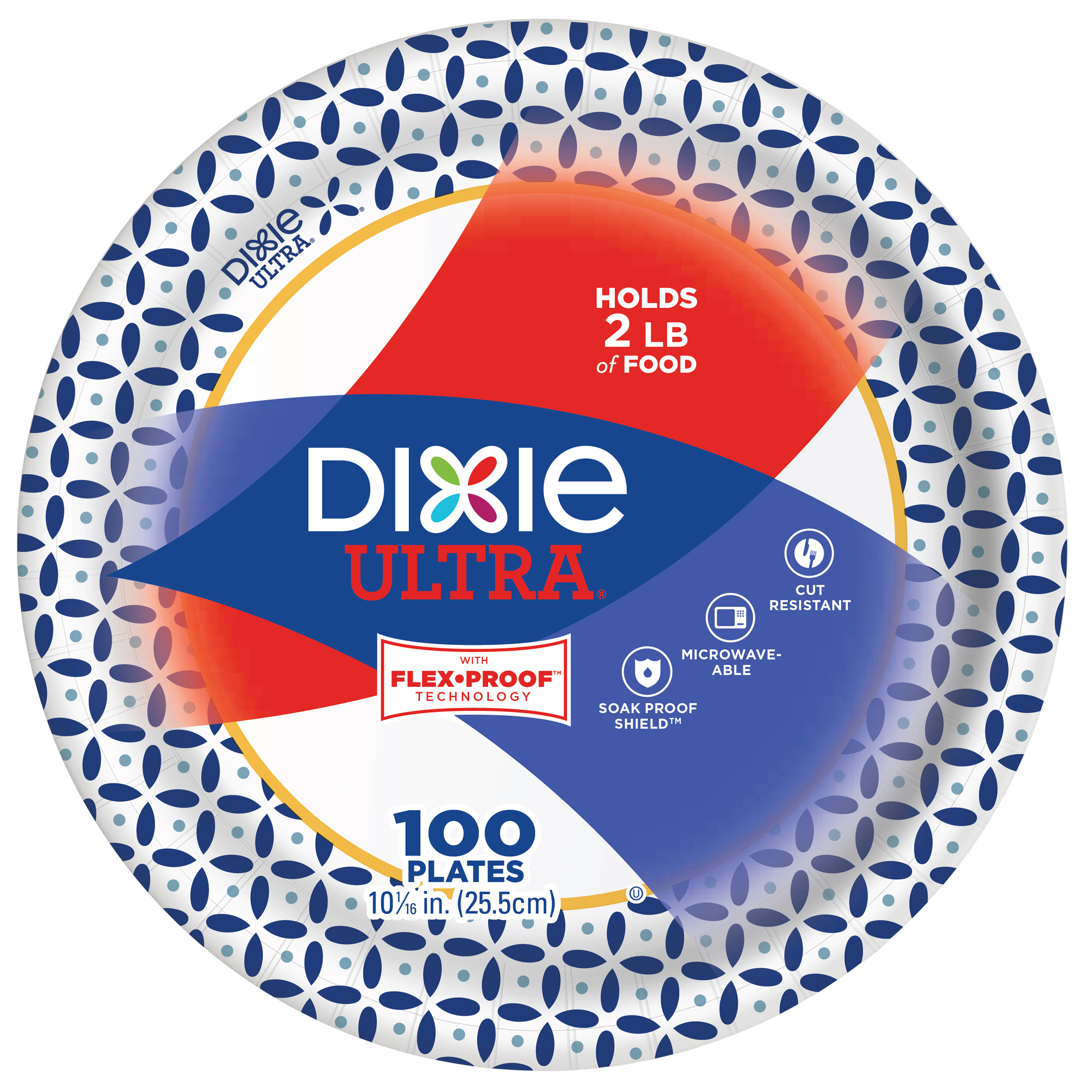 Dixie Ultra Dinner Size 10  Paper Plates, 100ct