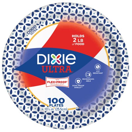 Dixie Ultra Paper Dinner Plates, 10 1/16
