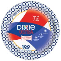 """Dixie Ultra Paper Dinner Plates, 10 1/16"""", 100 Count"""