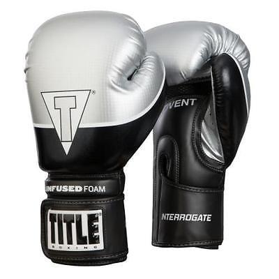 Title Infused Foam Interrogate Training Gloves Black/Silver