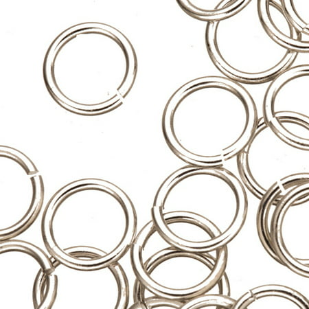 16 Gauge Jumpring Silver Finished Brass 12mm 30pcs/pack (2-Pack Value Bundle), SAVE