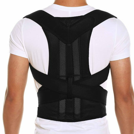 CFR Posture Corrector Back Brace Support Belts for Upper Back Pain Relief, Adjustable Size with Waist Support Wide Straps Comfortable for Men Women Adj Back Strap