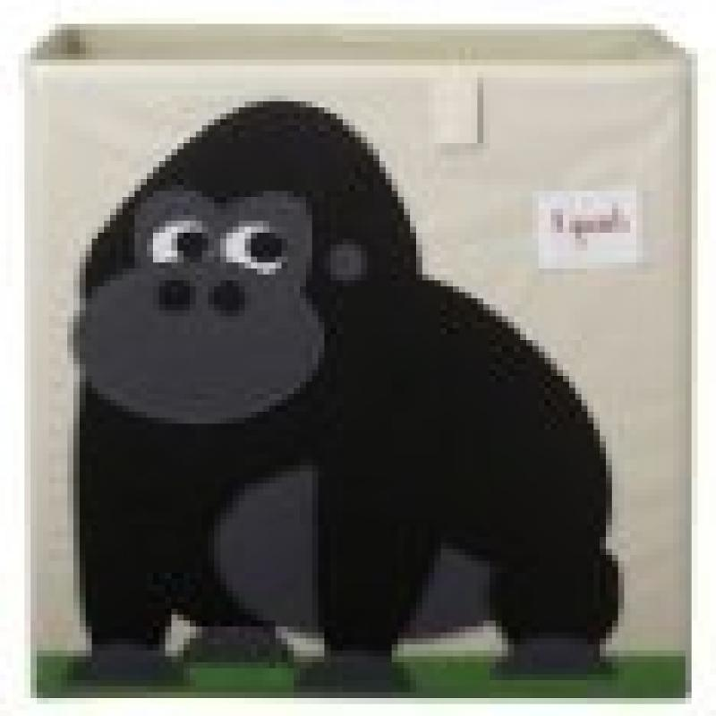 3 Sprouts Storage Box, Gorilla (Pack of 2)