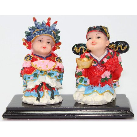 Wedding Lover Gift ~Oriental Bride& Groom Wedding Couple Marriage Luck Figurines Statues Congratulatory Blessing Gift New