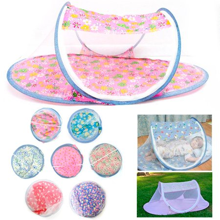 1 Portable Foldable Baby Mosquito Tent Travel Infant Bed Net Instant Crib New ! ()