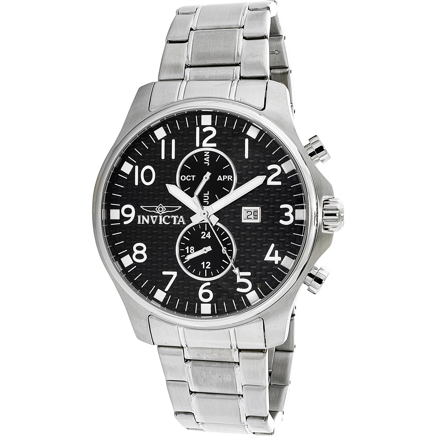 Invicta Men's Specialty 0379 Silver Stainless-Steel Plated Swiss Quartz Dress Watch