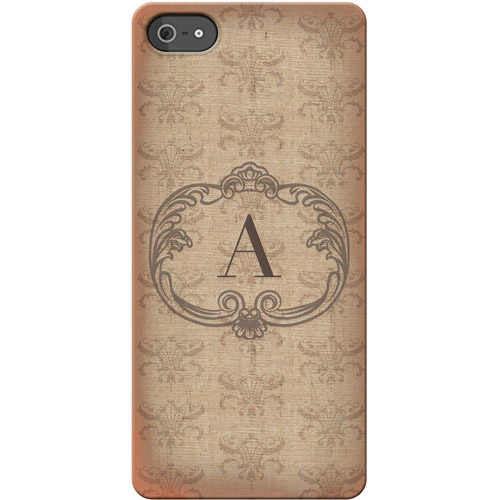 Personalized Vintage Initial I Phone 5 Case