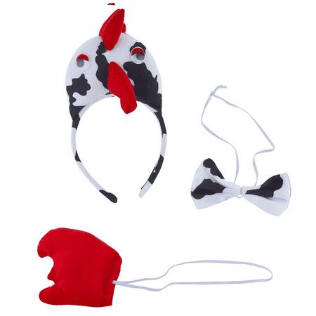 Lux Accessories Black White Bird Kids Adult Halloween Accessory Costume Set 3PC](A Big Black Bird Halloween)