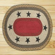 Earth Rugs 65-111S Stars Oval Patch
