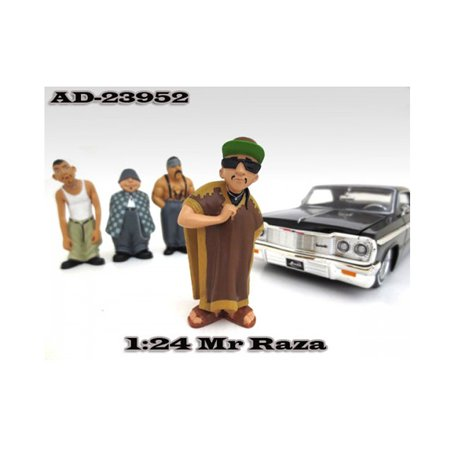 "Mr. Raza Homies"" Figure For 1:24 Scale Diecast Model Cars by American Diorama"""