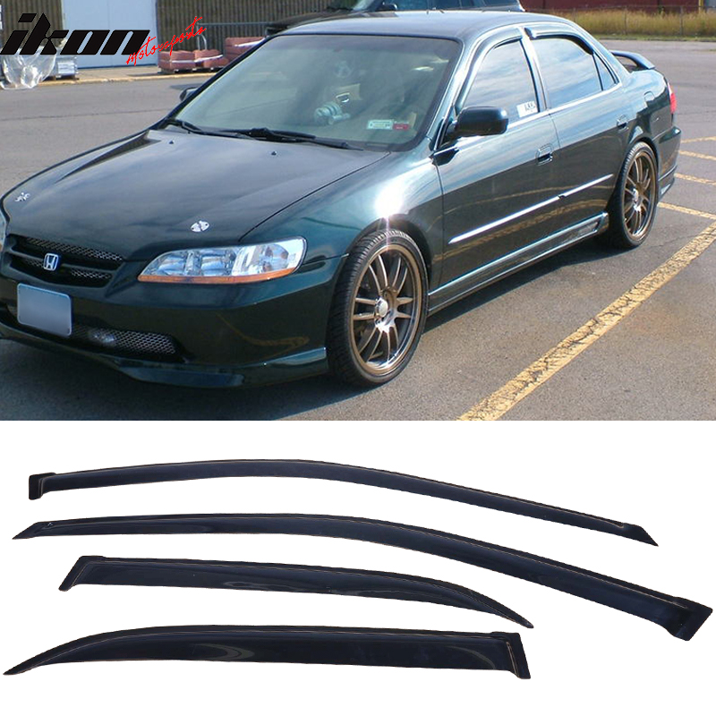 Fits 98-02 Honda Accord Sedan Acrylic Window Visors 4Pc Set