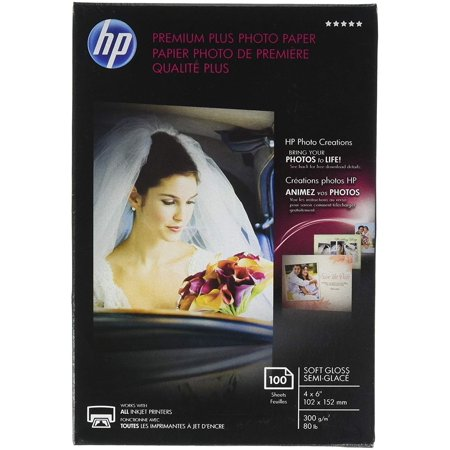HP Premium Plus Photo Paper, Soft Gloss, 4x6, 100 Sheets (CR666A), Use HP's best photo paper for prints that make you proud. HP Premium Plus Photo Paper.., By Hewlett Packard ()