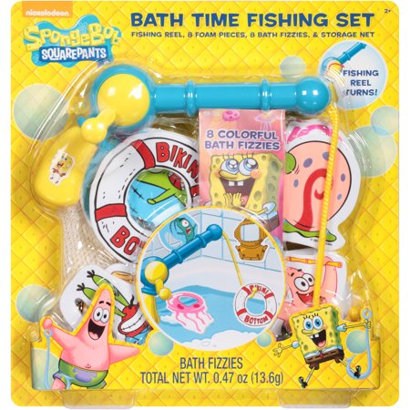 Nickelodeon Spongebob Squarepants Bath Time Fishing Set 18 Pc
