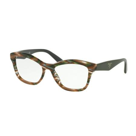 aec8c975629 Prada 0PR 29RV Optical Full Rim Cat Eye Womens Eyeglasses - Size 54  (Sheaves Grey Brown) - Walmart.com